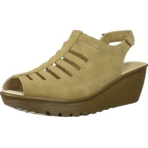 🆕 Skechers Parallel Trapezoid Wedge Sandal 9 New